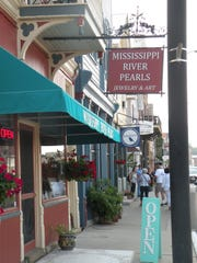 Shops line Main Street in Alma, Wis., a picturesque 19th century city on the Mississippi River.