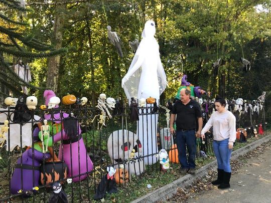 Danny Scott and his family put up elaborate Halloween decorations at their home at 128 Nebraska Ave. in Oak Ridge.