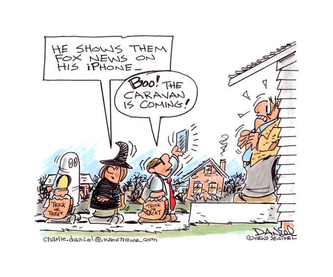Charlie Daniel editorial cartoon for Wednesday, Oct. 31, 2018.
