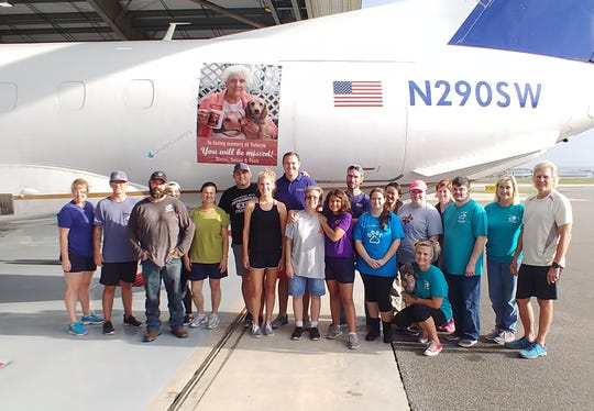 187 pets were flown from Lafayette to Washington state to find forever homes.