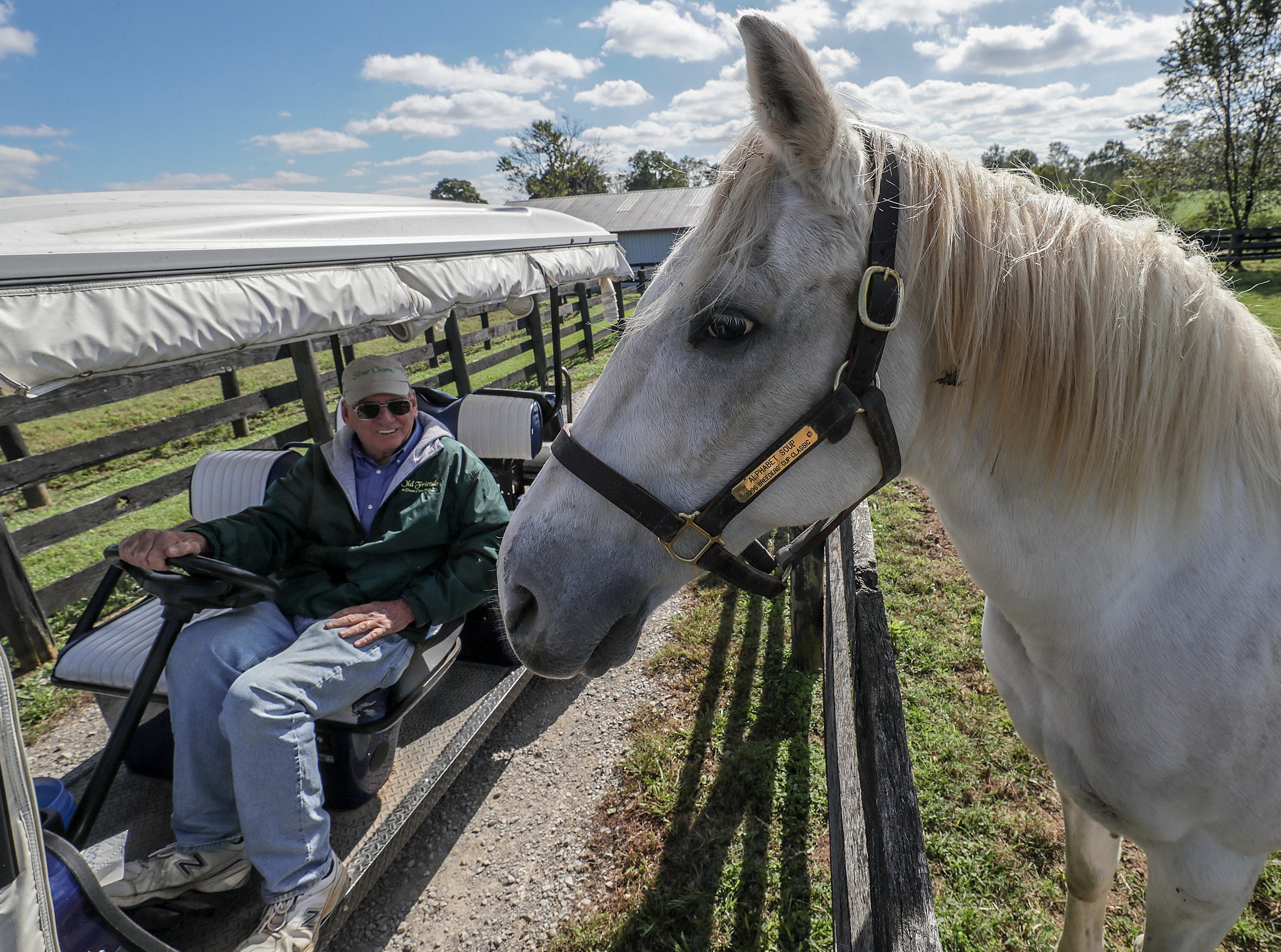 Alphabet Soup won the Breeders Cup Classic in 1996 and hangs out with Michael Blowen, founder of Old Friends Farm. October 11, 2018