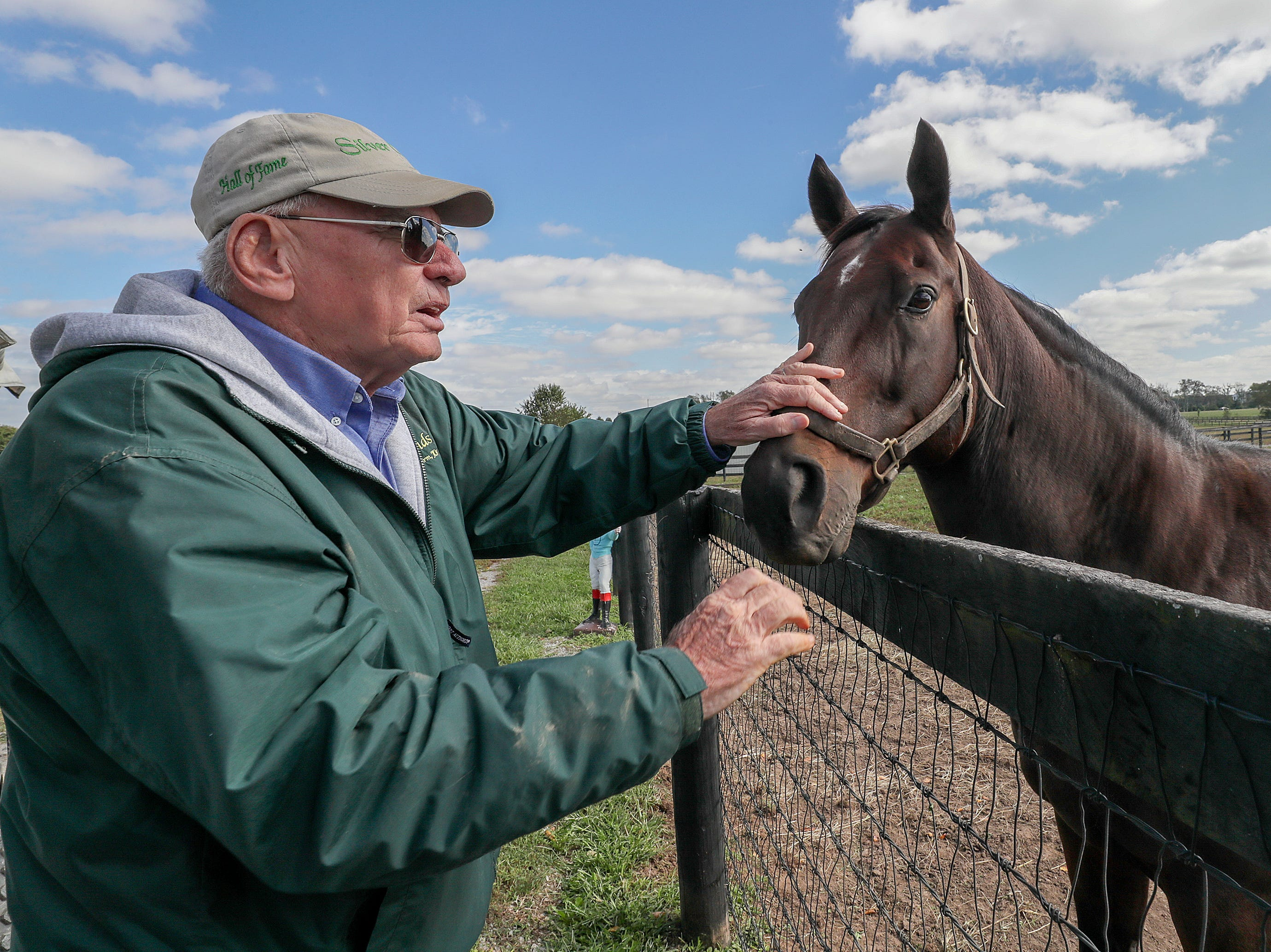 Old Friends Farm founder Michael Blowen with Eldafer, the Breeders Cup Marathon winner from 2010.October 11, 2018
