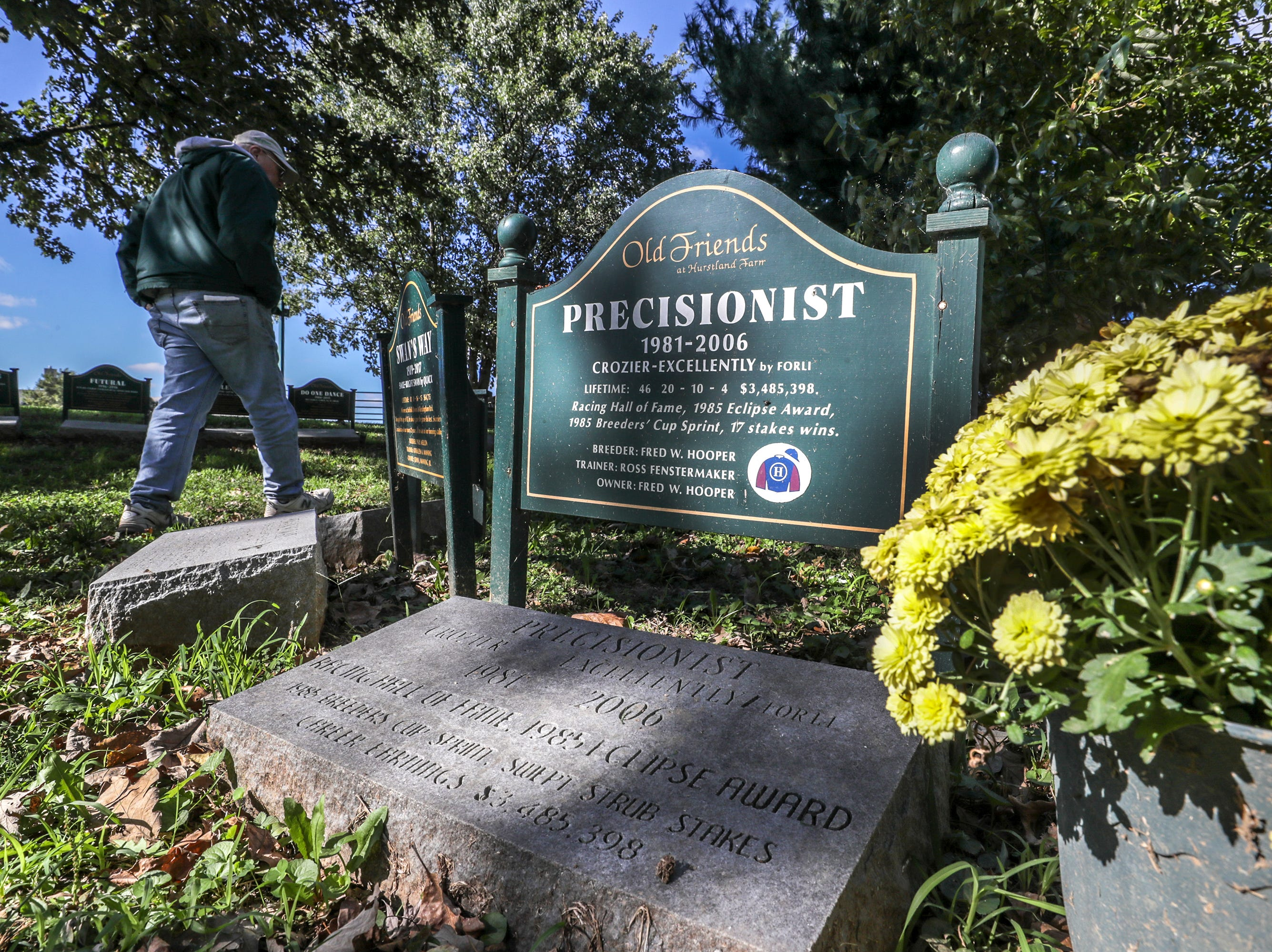 Many great racehorses are buried at Old Friends Farm after they die including Breeders Cup champion Precisionist.October 10, 2018