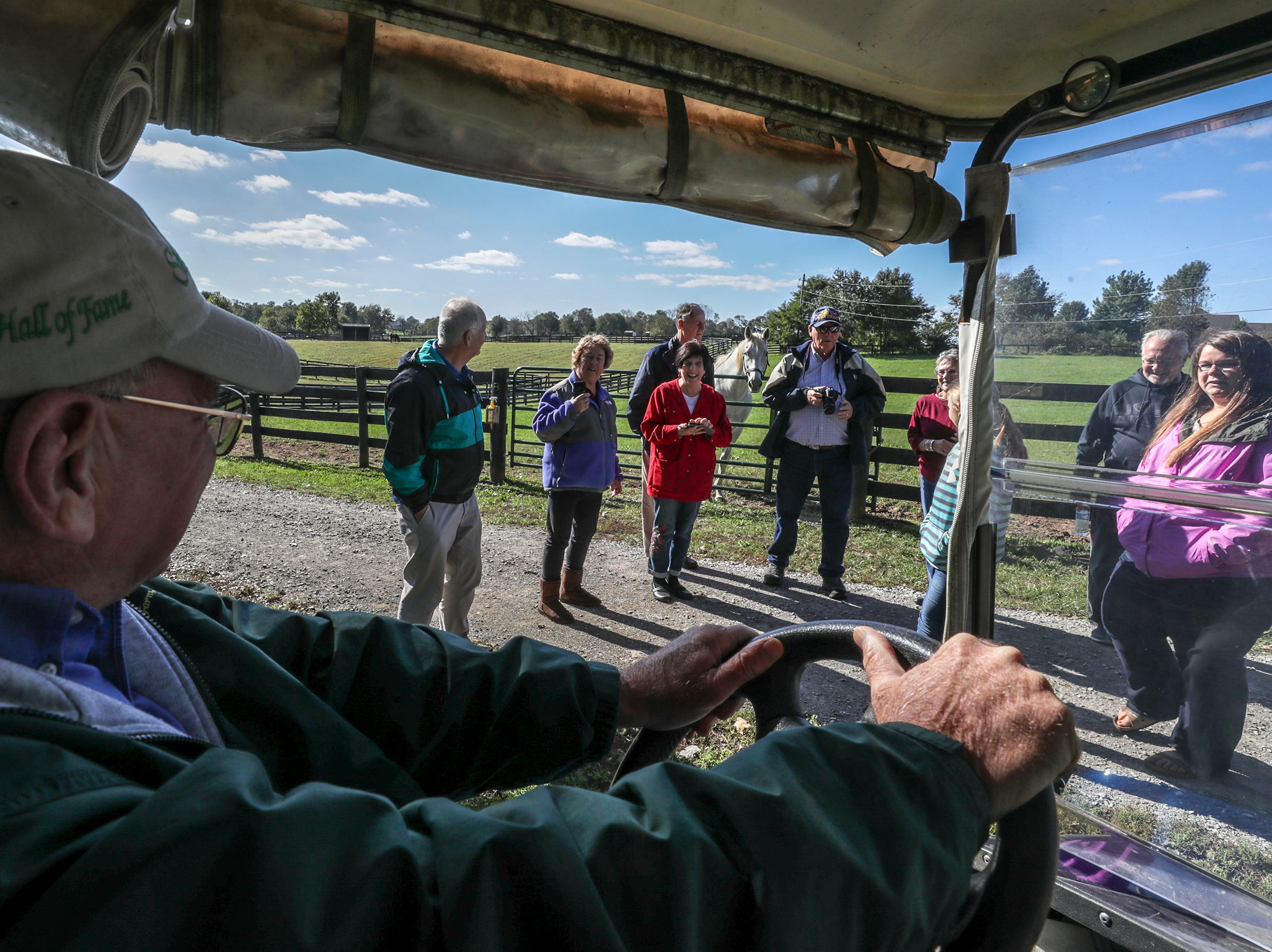 Old Friends Farm founder Michael Blowen greets visitors the farm in Georgetown.October 10, 2018