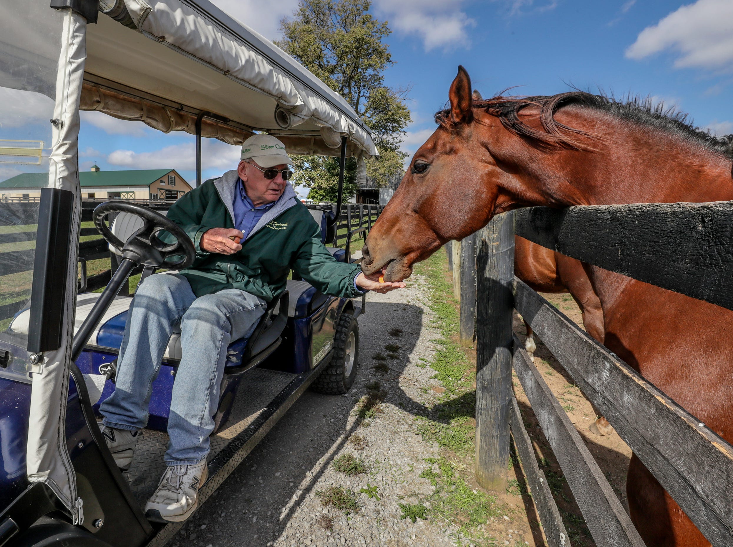 Old Friends Farm founder Michael Blowen with Amazombie, the Breeders Cup Sprint winner from 2011.October 11, 2018