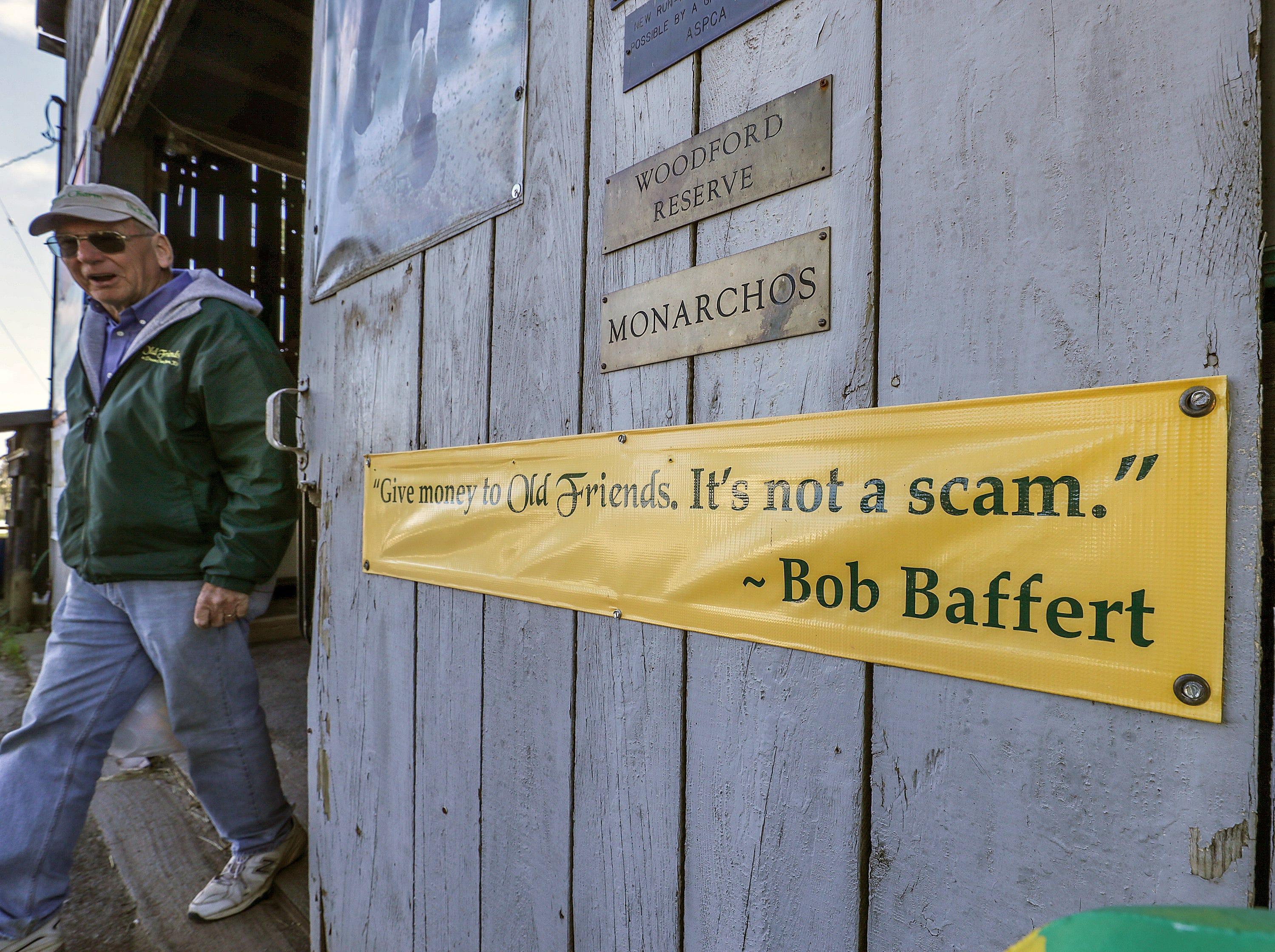Bob Baffert is a great supporter of Old Friends Farm.October 11, 2018