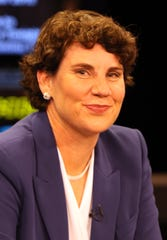 6th Congressional district Democrat candidate Amy McGrath before a debate at KET in Lexington, Oct. 29, 2018.