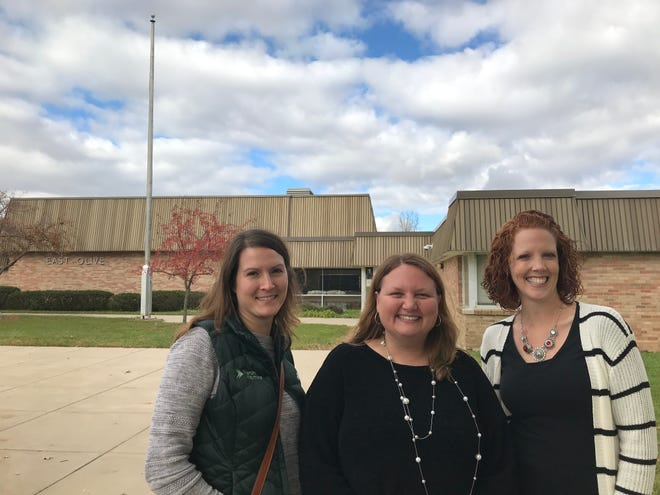 Local residents (from left) Jodi Parker, Carrie Ramirez and Melissa Graham have all been involved in the effort to develop a business plan to turn the former East Olive Elementary School in St. Johns into a community center.