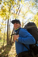 Cedarburg native Eric Larsen hiked, biked and kayaked 500 miles across Wisconsin in October 2018 to raise money for Riveredge Nature Center.