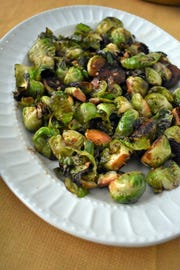 Stovetop Charred Brussels Sprouts serve up a melange of flavors.