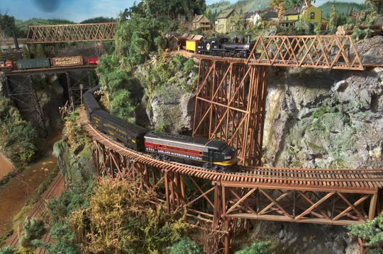 It took Ken Jaglinski 27 years to complete the Ashland, Superior and Pacific Railroad, his HO scale model train layout.