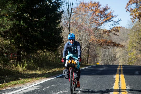 Cedarburg native Eric Larsen rode about 100 miles a day for three days during his trip across Wisconsin.