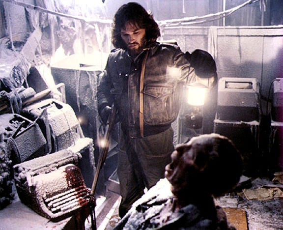 "Kurt Russell plays a scientist trapped in Antarctica with a shape-shifting alien in John Carpenter's 1982 sci-fi/horror classic ""The Thing."""