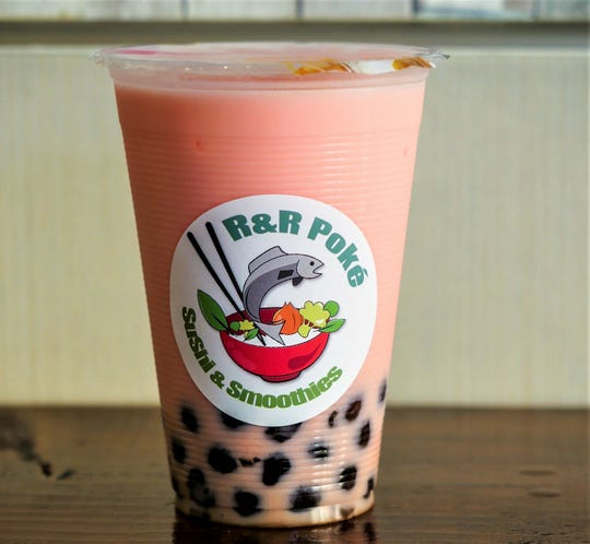 Bubble tea and smoothies come in all flavors at R&R Poke.