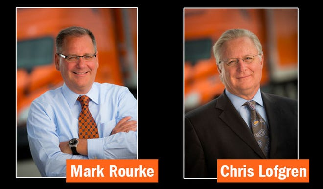 Chris Lofgren will retire next April as CEO of trucking company Schneider National Inc. He will be succeeded by Mark Rourke, currently executive vice president and chief operating officer.