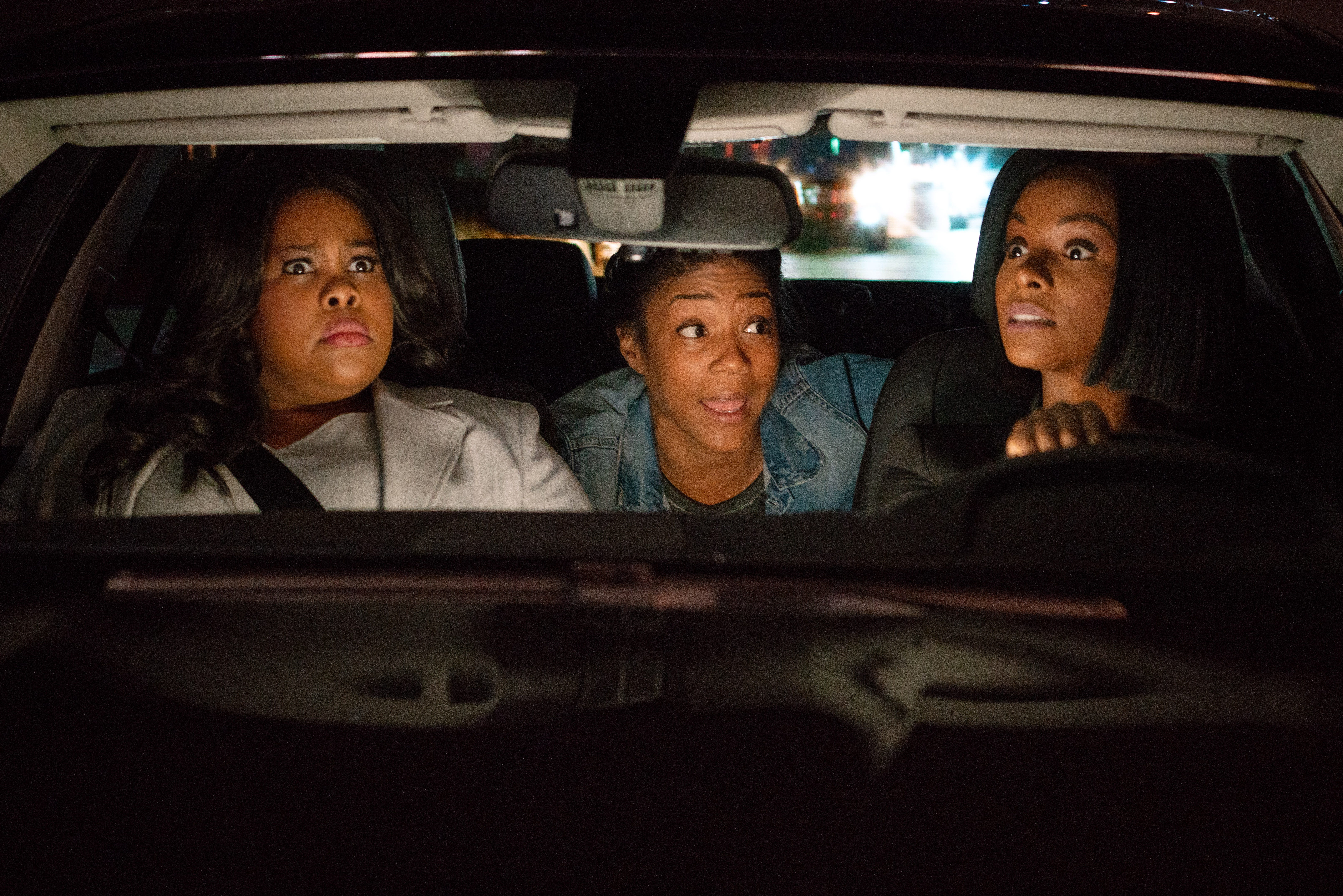 "Amber Riley (from left), Tiffany Haddish and Tika Sumpter star in ""Nobody's Fool."""