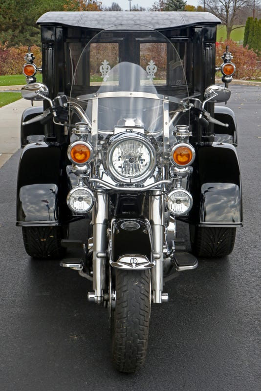 Krause Hearse Offers Final Harley Ride