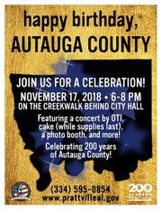 Autauga County birthday celebration