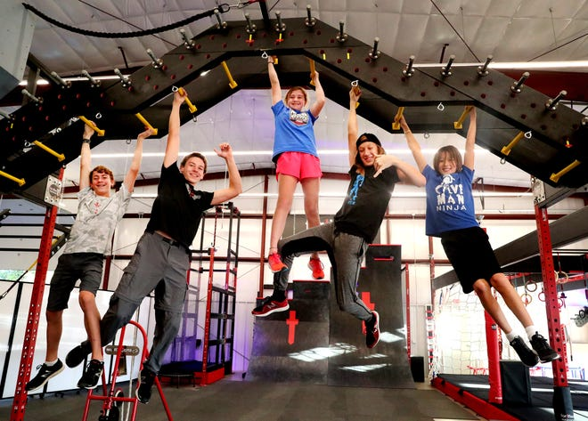 Kids in Murfreesboro practice to prepare for the television show American Ninja Warrior Junior, on Monday Oct. 29, 2018.