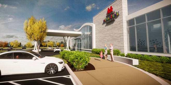 This rendering shows what the future Vanderbilt children's health-care office will look like in Murfreesboro's Gateway area.