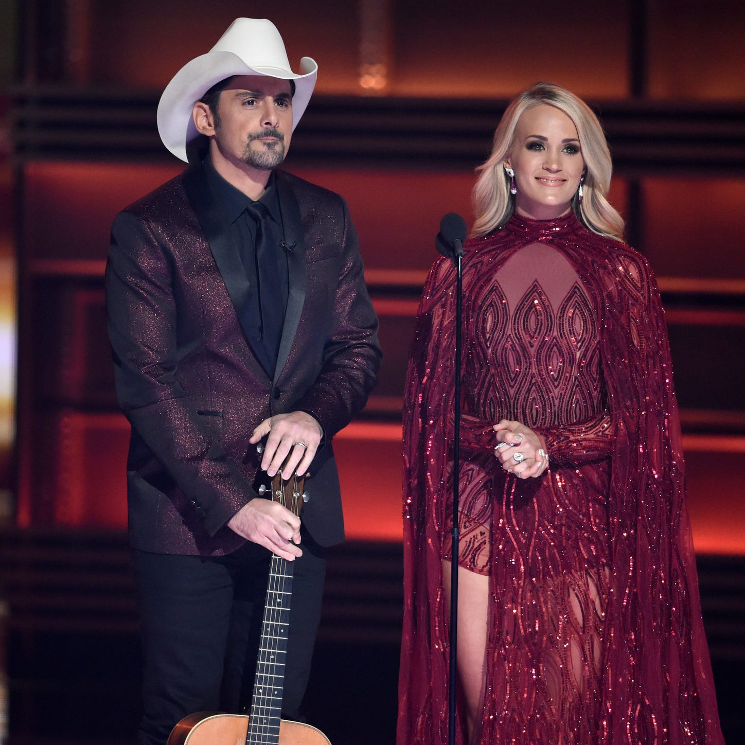 Carrie Underwood, Brad Paisley open up about hosting CMA Awards 2018