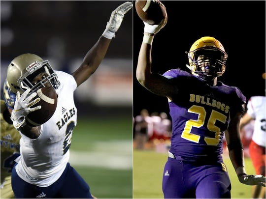 Independence's T.J. Sheffield (left) and Smyrna's Josh Bailey (right)