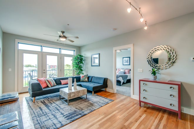 The Germantown condo being marketed by Gabriela Lira, broker with Re/Max Masters, has two bedrooms and two baths and comes with deeded storage and assigned, gated parking.
