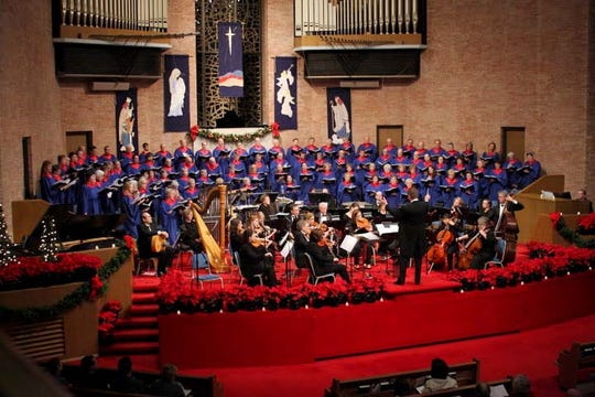 First Baptist Church presents Christmas at First on Dec. 2, featuring the children's, youth, and adult choirs, along with the sanctuary orchestra.