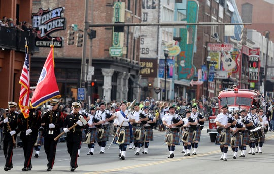 The Nashville Veterans Day Parade will take place along Broadway, starting at 11 a.m. on Nov. 12.