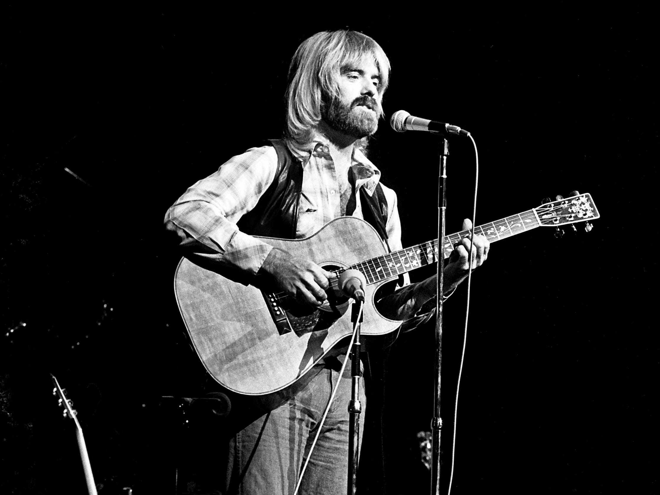 Special surprise guest Michael Martin Murphey performs during Hoyt Axton's Halloween concert at the Grand Ole Opry House on Oct. 31, 1978.