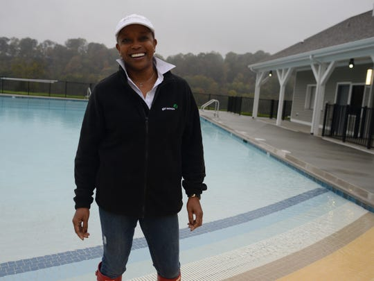 Girl Scouts of Middle Tennessee CEO Agenia Clark is excited about the new aquatic facility at the organization's Camp Sycamore Hills in Ashland City.