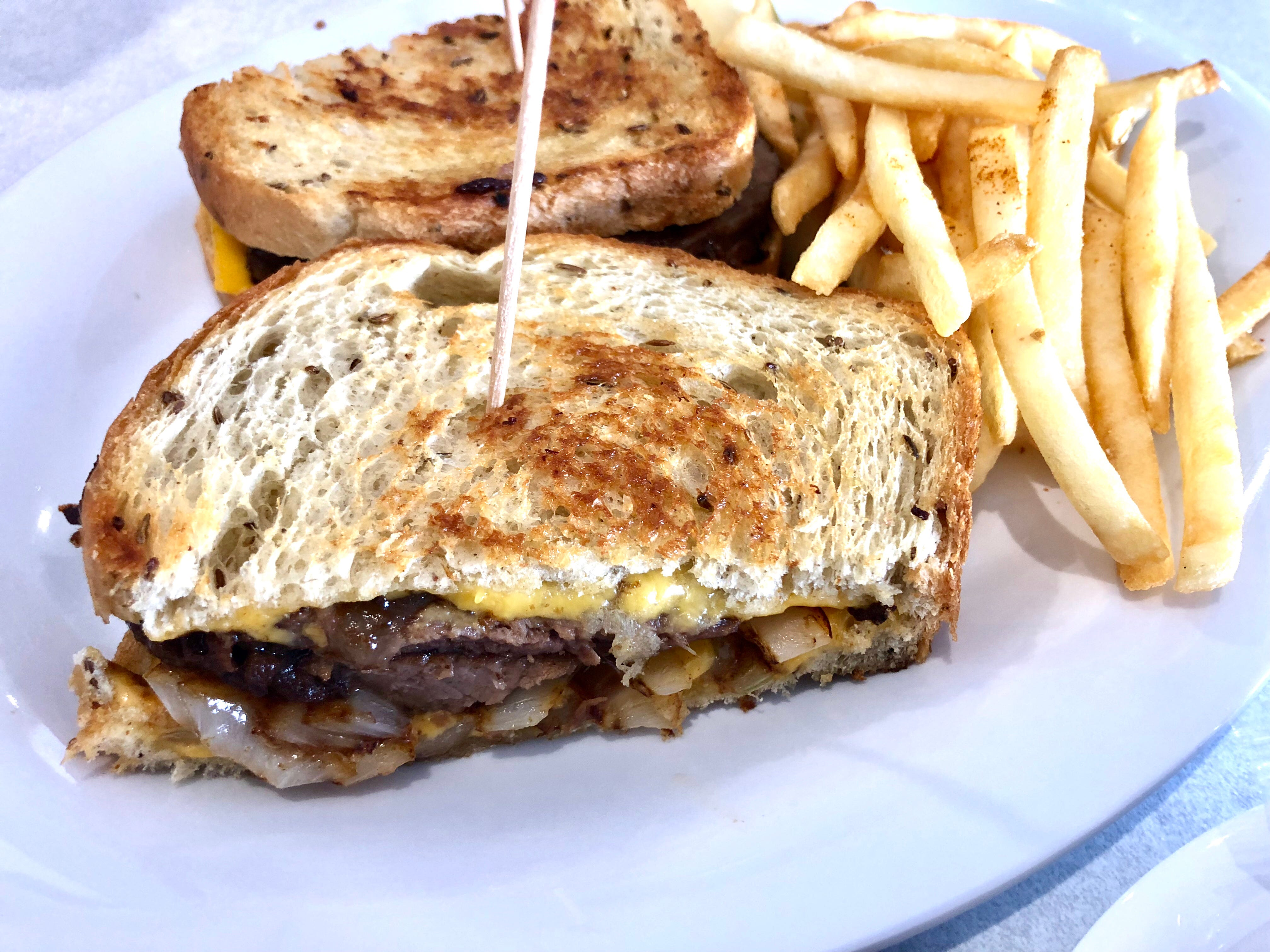 A pot roast melt layered with American cheese and grilled onions at the new LuLu B's in North Naples.