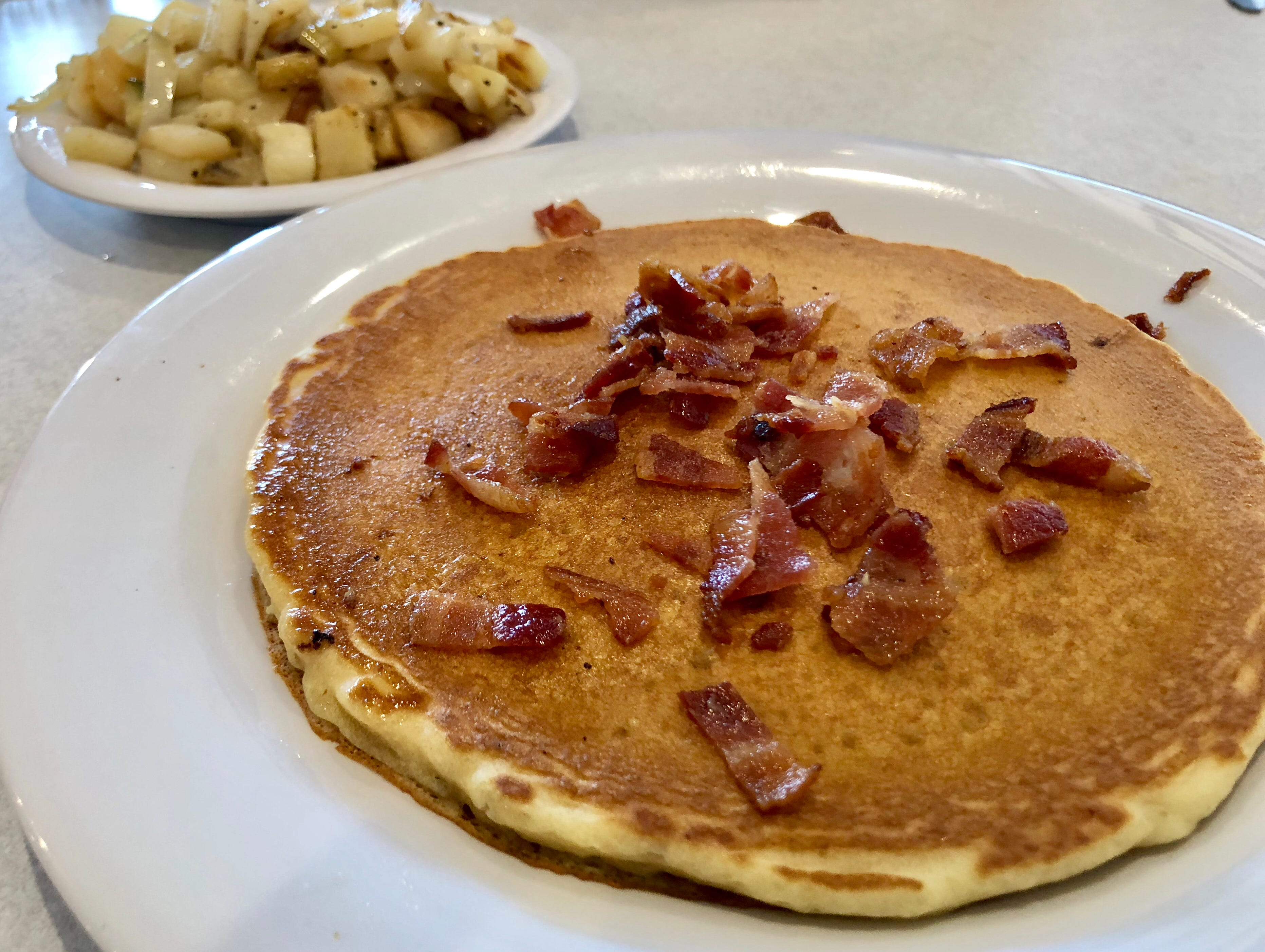 """The """"bacon blast"""" pancakes at the new LuLu B's in North Naples."""