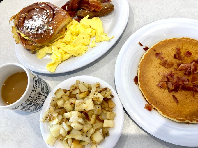 The new LuLu B's location in North Naples serves diner-style breakfast and lunch, including cinnamon roll French toast and bacon pancakes.
