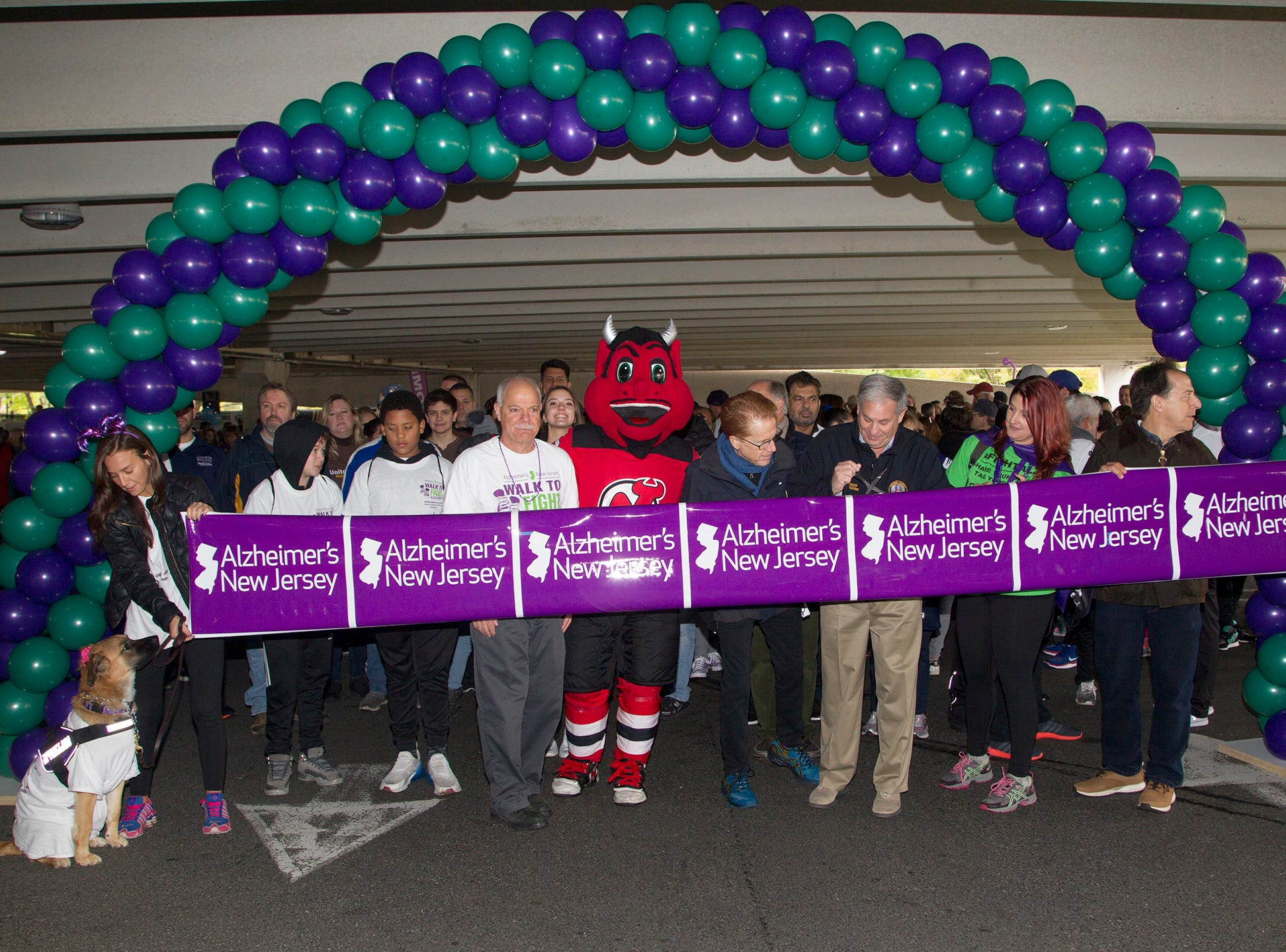 "Alzheimer's New Jersey hosts annual ""Walk to Fight Alzheimer's"" at Bergen Community College in Paramus. 10/28/2018"