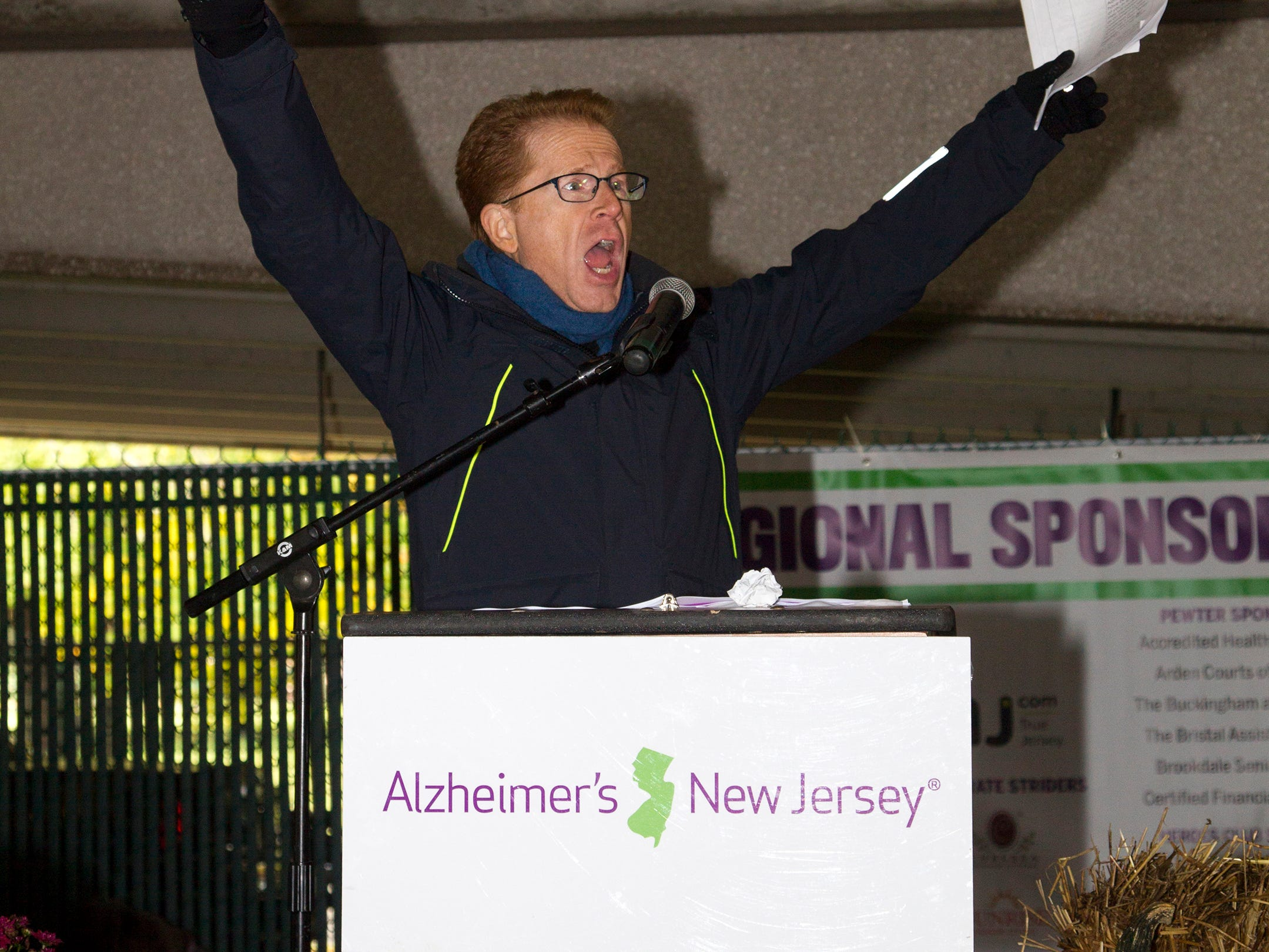 "John Elliot. Alzheimer's New Jersey hosts annual ""Walk to Fight Alzheimer's"" at Bergen Community College in Paramus. 10/28/2018"