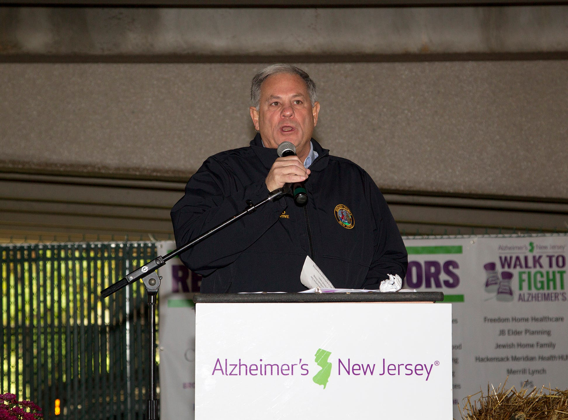 "JIm Tedesco. Alzheimer's New Jersey hosts annual ""Walk to Fight Alzheimer's"" at Bergen Community College in Paramus. 10/28/2018"