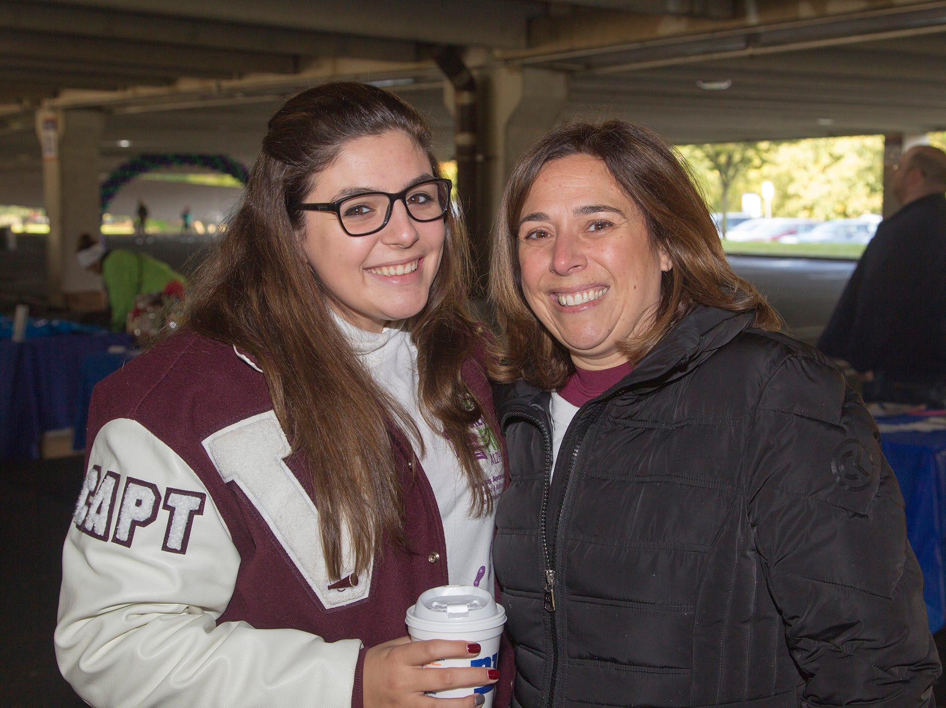 "Maria and JoAnne Celentano. Alzheimer's New Jersey hosts annual ""Walk to Fight Alzheimer's"" at Bergen Community College in Paramus. 10/28/2018"