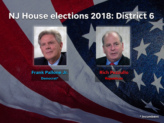 Frank Pallone Jr. (D) and Rich Pezzullo (R) are among the candidates running in District 6 in the 2018 NJ House elections.