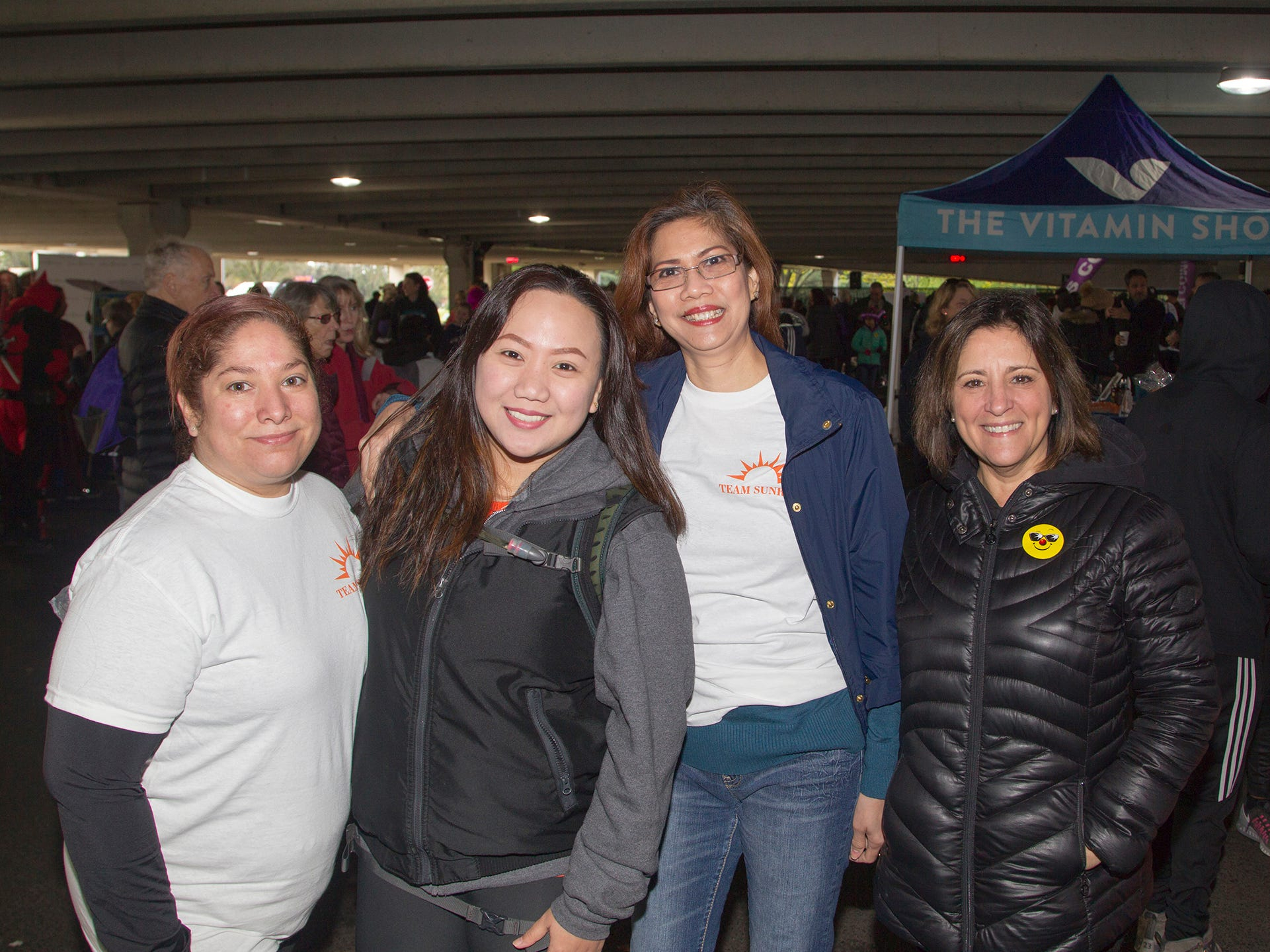 "Martha, Anna, Lean, Cheryl. Alzheimer's New Jersey hosts annual ""Walk to Fight Alzheimer's"" at Bergen Community College in Paramus. 10/28/2018"