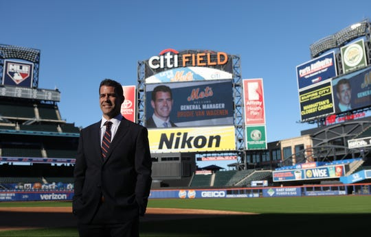 Brodie Van Wagenen poses for the press after being named the Mets new general manager at Citi Field. Tuesday, October 30, 2018