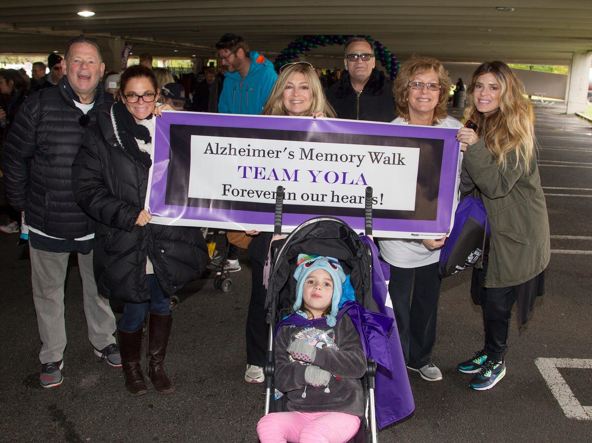 "Team Yola. Alzheimer's New Jersey hosts annual ""Walk to Fight Alzheimer's"" at Bergen Community College in Paramus. 10/28/2018"