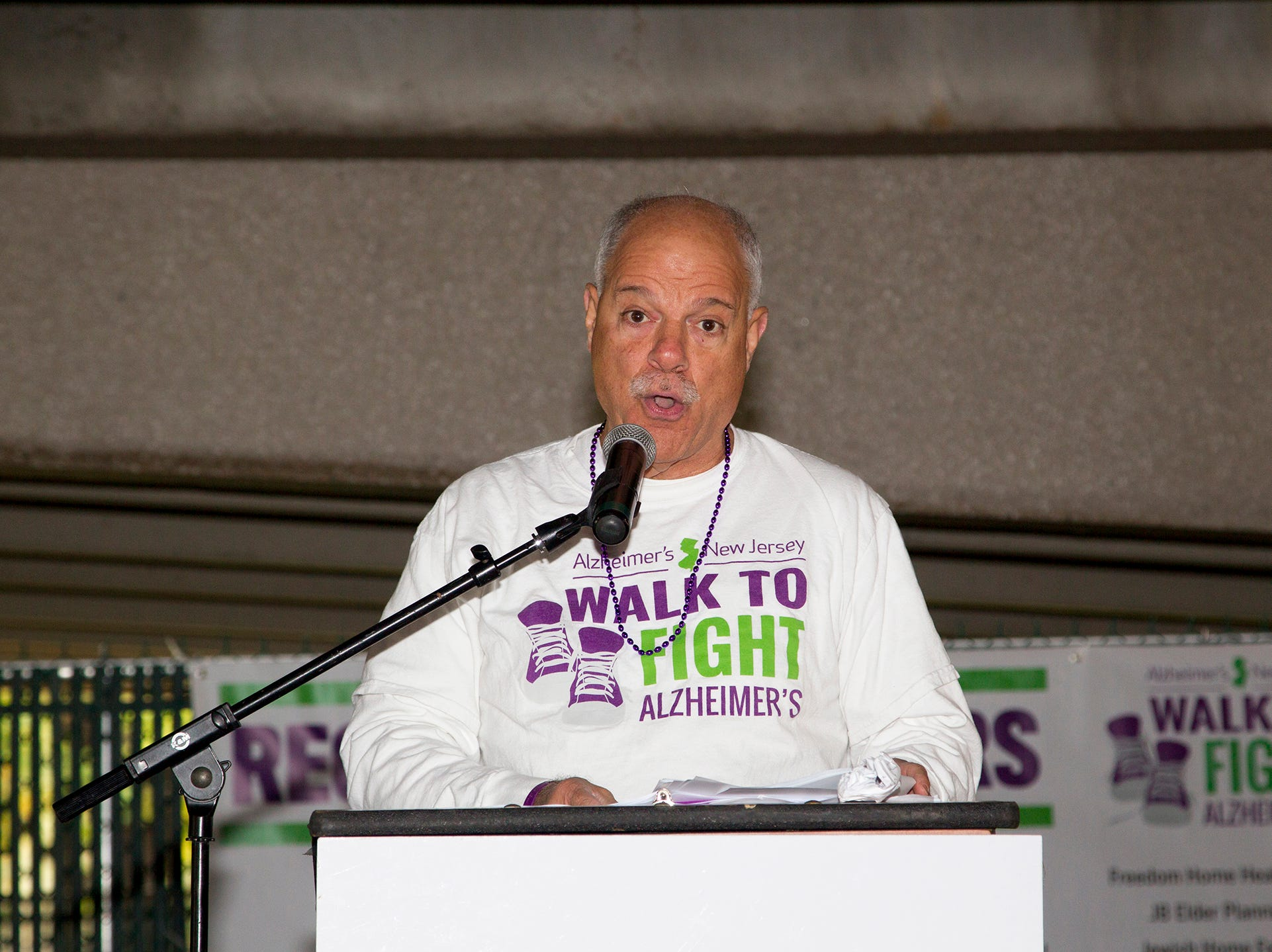 "Kenneth Zaentz. Alzheimer's New Jersey hosts annual ""Walk to Fight Alzheimer's"" at Bergen Community College in Paramus. 10/28/2018"
