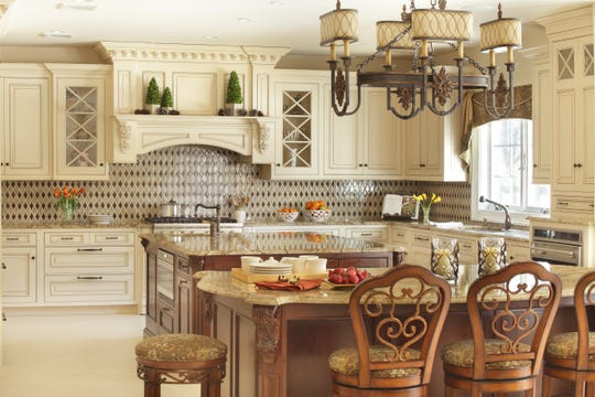 The Kontos family's Ridgewood kitchen, designed by Ulrich, a custom home remodeling, kitchen and bath design business in Ridgewood.