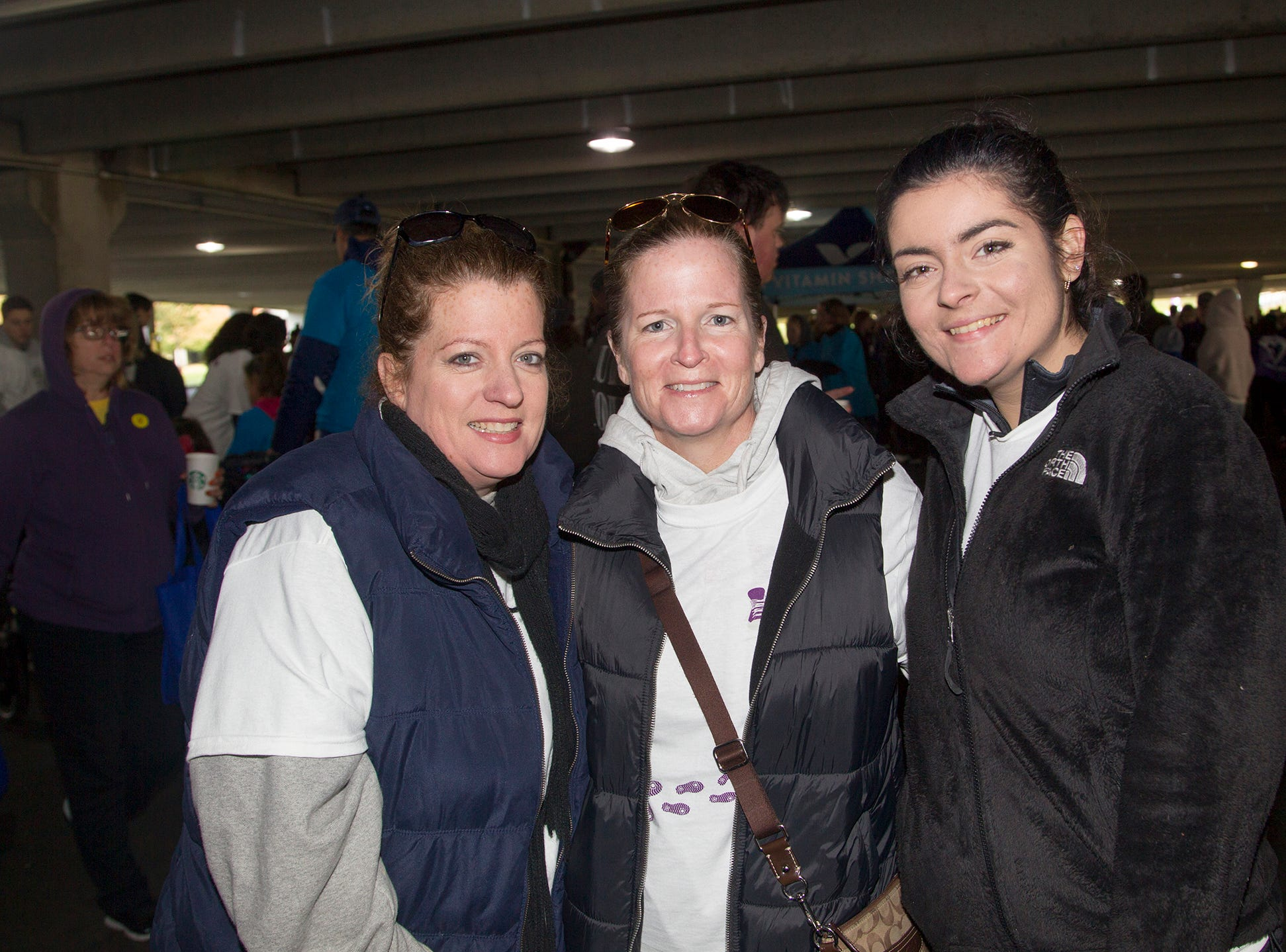 "Julia, Brianna Emily. Alzheimer's New Jersey hosts annual ""Walk to Fight Alzheimer's"" at Bergen Community College in Paramus. 10/28/2018"