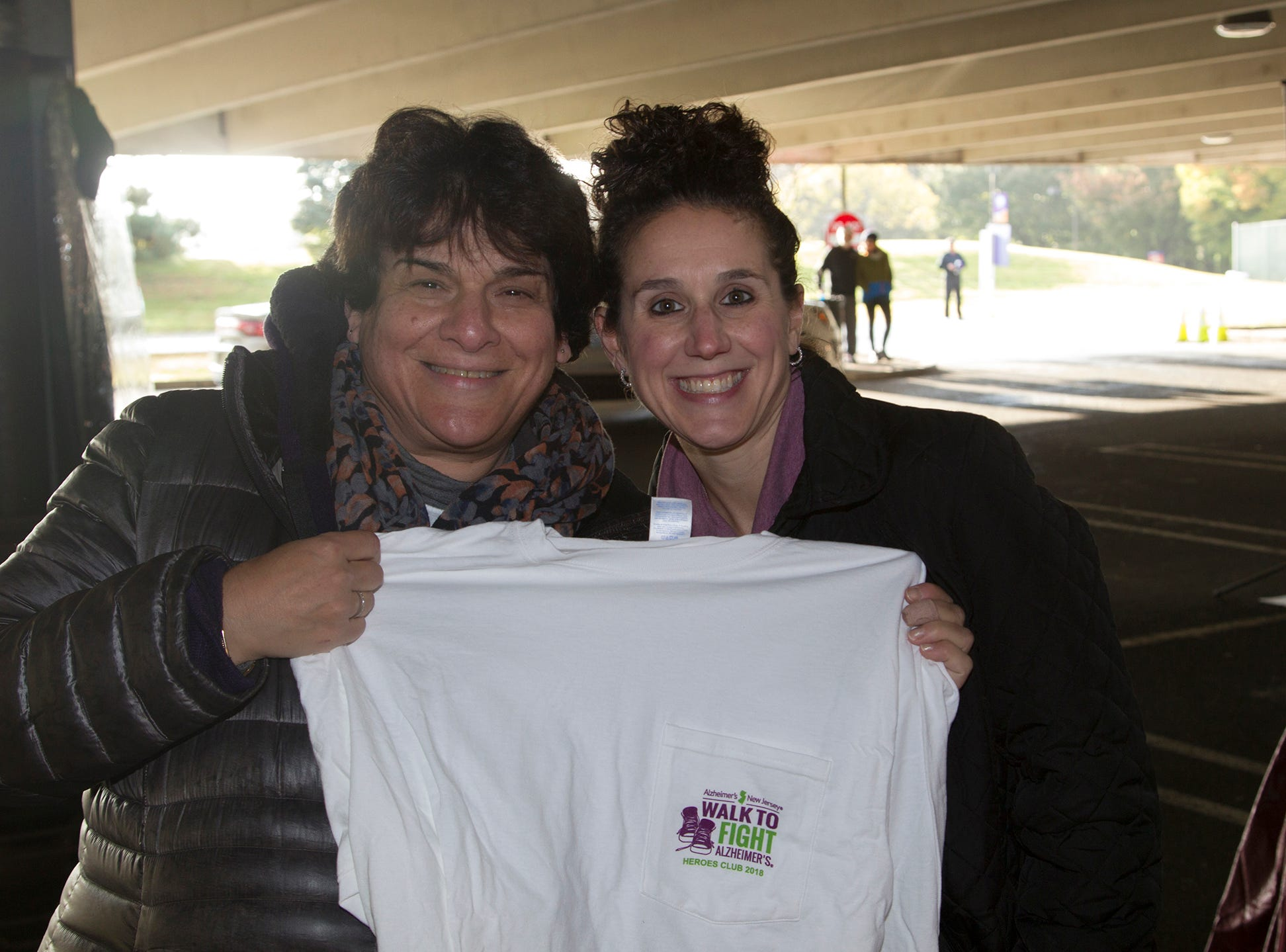 "Shelley Steiner, Jaime Cerritelli. Alzheimer's New Jersey hosts annual ""Walk to Fight Alzheimer's"" at Bergen Community College in Paramus. 10/28/2018"