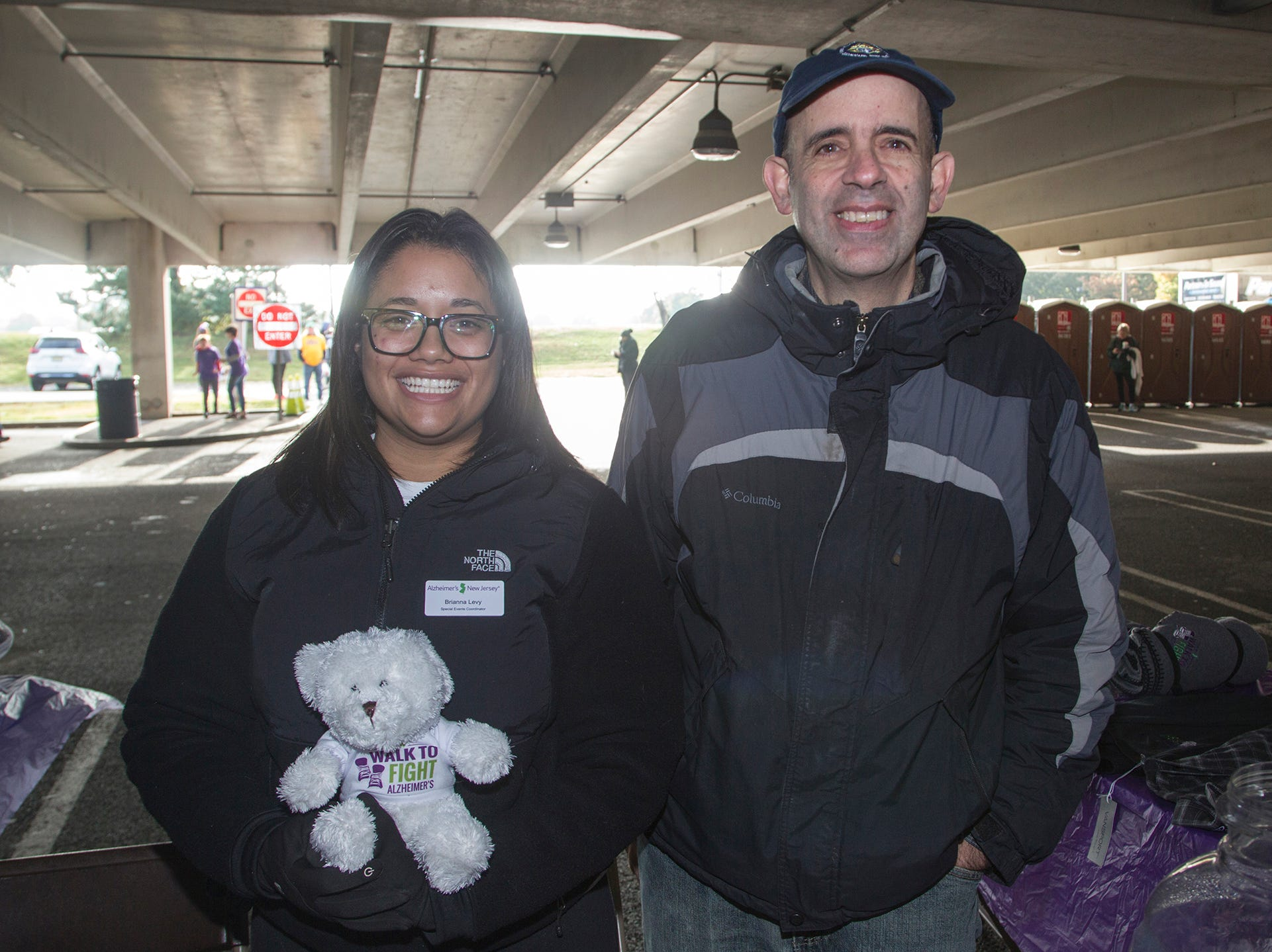"Brianna Ley, Anthony Reala. Alzheimer's New Jersey hosts annual ""Walk to Fight Alzheimer's"" at Bergen Community College in Paramus. 10/28/2018"