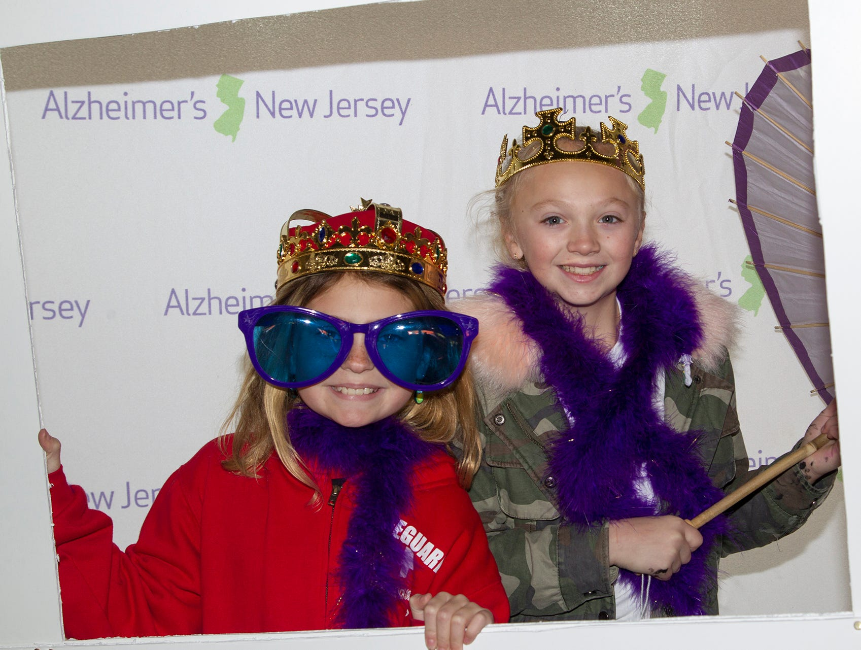 "Angela and Linda. Alzheimer's New Jersey hosts annual ""Walk to Fight Alzheimer's"" at Bergen Community College in Paramus. 10/28/2018"