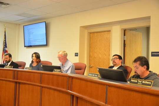 Superintendent Dr. Arsenio Romero and Deming Public School Board of Education members