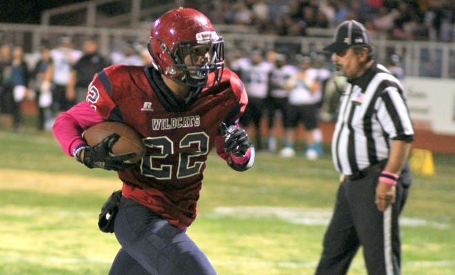 Sophomore Ceazar Chavez collected 123 yards on 18 carries for the 'Cats.